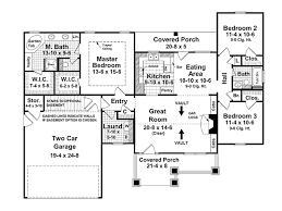 Floor Plans For 1500 Sq Ft Homes 3 Bdrm 1500 Sq Feet Open Floor Plan Ranch Craftsman Style