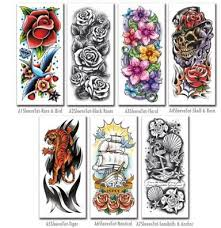 temporary tattoo sleeves