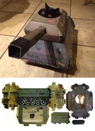 Cool Cat Scratchers This Company Makes Cardboard Tanks Planes And Houses For Cats