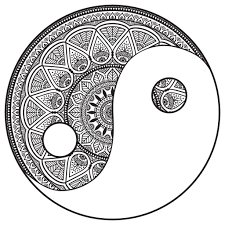 mandala coloring pages mandala yin and yang to color by snezh mandalas coloring pages