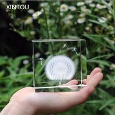 aliexpress com buy xintou crystal glass square dandelion
