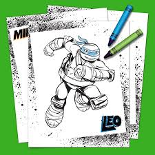 teenage mutant ninja turtles coloring pack nickelodeon parents