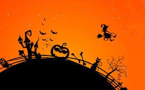 wallpaper halloween pumpkin castle bats halloween witch hd 4k