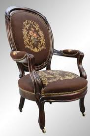 Kissing Chairs Antiques Antique Victorian Needlepoint Parlor Chair Home Chair Sofa