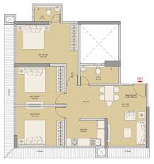 1300 Square Foot Floor Plans by 3 Bhk 1300 Sq Ft Apartment For Sale In Ruparel Regalia At Rs