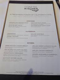 The Coastal Kitchen - more menus coastal kitchen lunch the flatbreads cruise critic