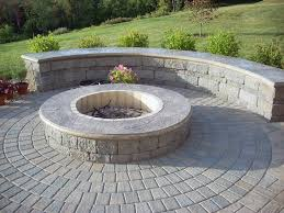 Flagstone Patio On Concrete by Fire Pit Pictures Gallery Landscaping Network