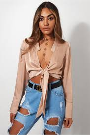 tie front blouse gold satin tie front blouse the fashion bible from the fashion