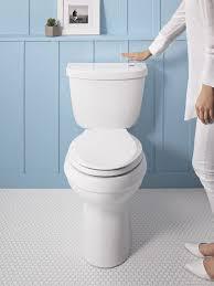 Kohler Comfort Height Round Toilet Faucet Com K 6418 0 In White By Kohler
