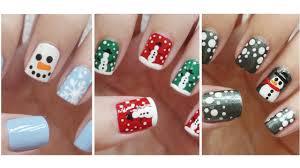 snowman nail art three easy designs youtube
