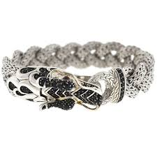 dragon bracelet silver images John hardy naga black sapphire and sterling silver dragon braided jpg