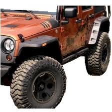 rugged ridge jeep wrangler jk 07 up hurricane flat fender flare