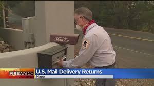 mail delivery resumes in napa county cbs13 cbs sacramento