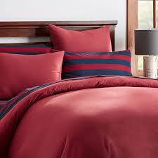 Red Duvet Set Easton Flannel Duvet Cover Sham Pbteen