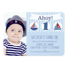 nautical birthday invitations u0026 announcements zazzle com au