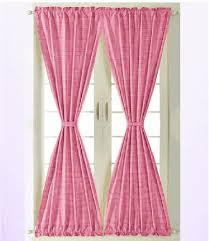 Fuchsia Pink Curtains Pink Fuchsia Gingham Check French Door Curtains Lined Or Unlined