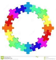 colored circle jigsaw puzzle stock illustration image 84384236