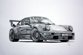 supercar drawing my rwb drawing got signed by nakai san cars