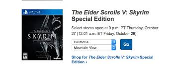 eso ps4 best buy black friday deals skyrim special edition release 5 things to know