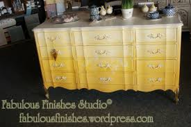 ten projects day seven u2013 a painted ombre yellow dresser