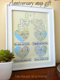 diy anniversary gift map wall art from thinkcrafts com diy