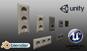 standard light switch pbr game ready 3d model cgtrader