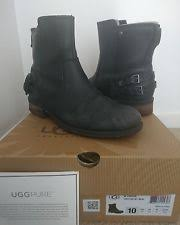 s ugg australia noira boots usa ugg australia 100 leather biker boots for ebay