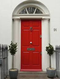 a red regency front door will give your neighbours serious door