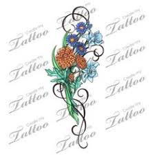 June Flower Tattoos - may june and december birth flowers done in stone colors my