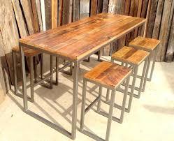 Reclaimed Wood Bar Table Wood Bar Table Sale Custom Outdoor Indoor Rustic Reclaimed