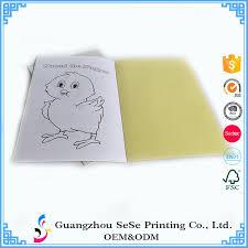 custom printing cheap kids coloring book color filling book