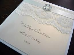 Wedding Invitations With Ribbon Pocketcard Wedding Invitation With Lace Ribbon And A Round Fancy