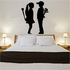 banksy wall stickers shop home banksy boy meets girl decal vinyl wall sticker ban1