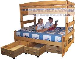 Twin Over Full Bunk Bed Designs by Bunk Bed Plans For Stackable Twin Over Full With Drawers Or