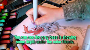 copic marker drawing tutorial using copics like watercolor sketch