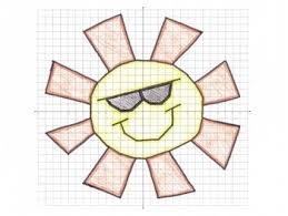 coordinate graph summer sun coordinate graphing mystery picture