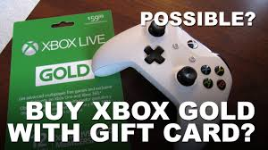 xbox live gift card can i use xbox gift card to buy xbox live gold