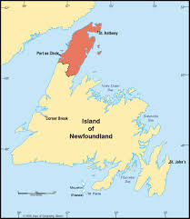 Physical Map Of Canada by Northern Peninsula Region Newfoundland Canadian Regional