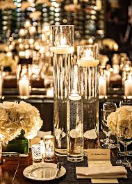 New York Themed Centerpieces by Thin And Tall Glass Floating Candle Holders Centerpiece New York