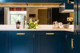 houzz blue kitchen cabinets hague blue shaker kitchen modern kitchen edinburgh