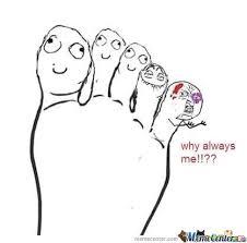 Foot Meme - foot finger by vemes meme center