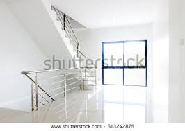 home interior stairs architecture home interior design staircase stainless stock photo