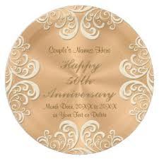 50th anniversary plate personalized golden anniversary plates zazzle