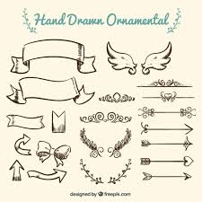 collection of ornament vector free