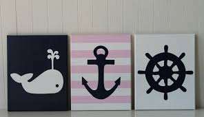 Nautical Baby Nursery Baby Nautical Nursery Decor Whale Nursery Painting Anchor