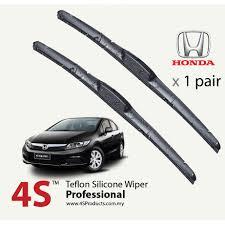 honda civic wipers honda civic 4s professional teflon silicone wiper blades 1 pair