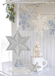 diy glitter snowflake ornaments town country living