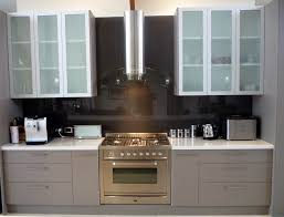 Frosted Kitchen Cabinet Doors White Oak Wood Orange Zest Shaker Door Frosted Glass Kitchen