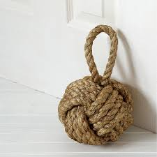 knot doorstop twine ball unique door stopper uncommongoods