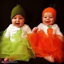 Pea Halloween Costume Peas U0026 Carrots Twin Babies Halloween Costume